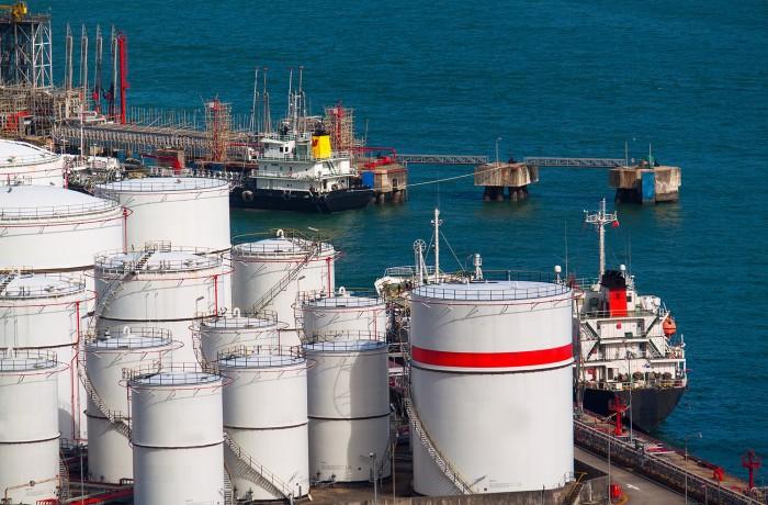 Gas condensate external floating roof steel storage tanks